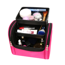New Multifunction Cosmetic Bag Travel Organizer Women Large Capacity Makeup Bag Professional Make Up Cases Portable Storage Bag new women s floral cosmetic bag high capacity travel storage makeup bag portable washing bag toiletries organizer cases