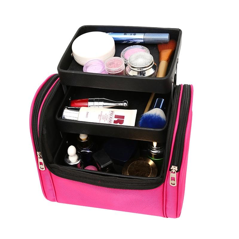 Nouveau multifonction sac cosmétique organisateur de voyage femmes grande capacité sac de maquillage professionnel maquillage cas Portable sac de rangement