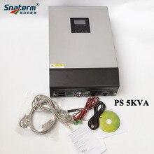 5000VA PS5KVA hibrid güneş PV invertör 48VDC to 230VAC ile 48V50A güneş enerjisi şarj cihazı denetleyici ve 60A AC şarj aleti paralel fonksiyonu