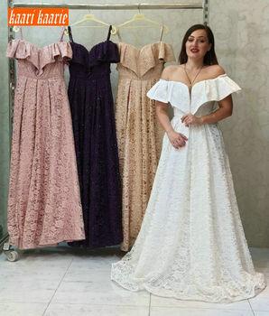 Elegant White Lace Wedding Dresses Long Sexy Off Shoulder Plus Size Customized A Line Wedding Gown Sleeveless Beach Bridal Dress