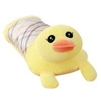 80cm Cartoon Animal Head Summer Baby Pillow Ice Silk Pillow Pillow Sleeping Plush Toy Birthday Gift Removable