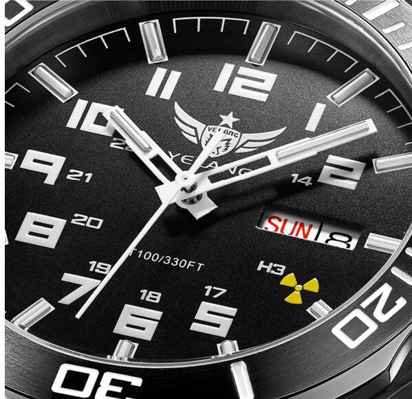 Yelang 남자 자동 시계 삼중 수소 라이트 t100 일본 최고 운동 24 보석 날짜 데이 사파이어 회전 다이얼 wr100m 기계식 시계-에서기계식 시계부터 시계 의  그룹 3
