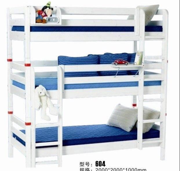 Niños de cucheta triple, literas de madera cama para tres personas ...