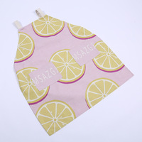 Red Fruit Printed Bib Apron With 2 Pockets Chef Waiter Kitchen Cook New Tool Kitchen Apron