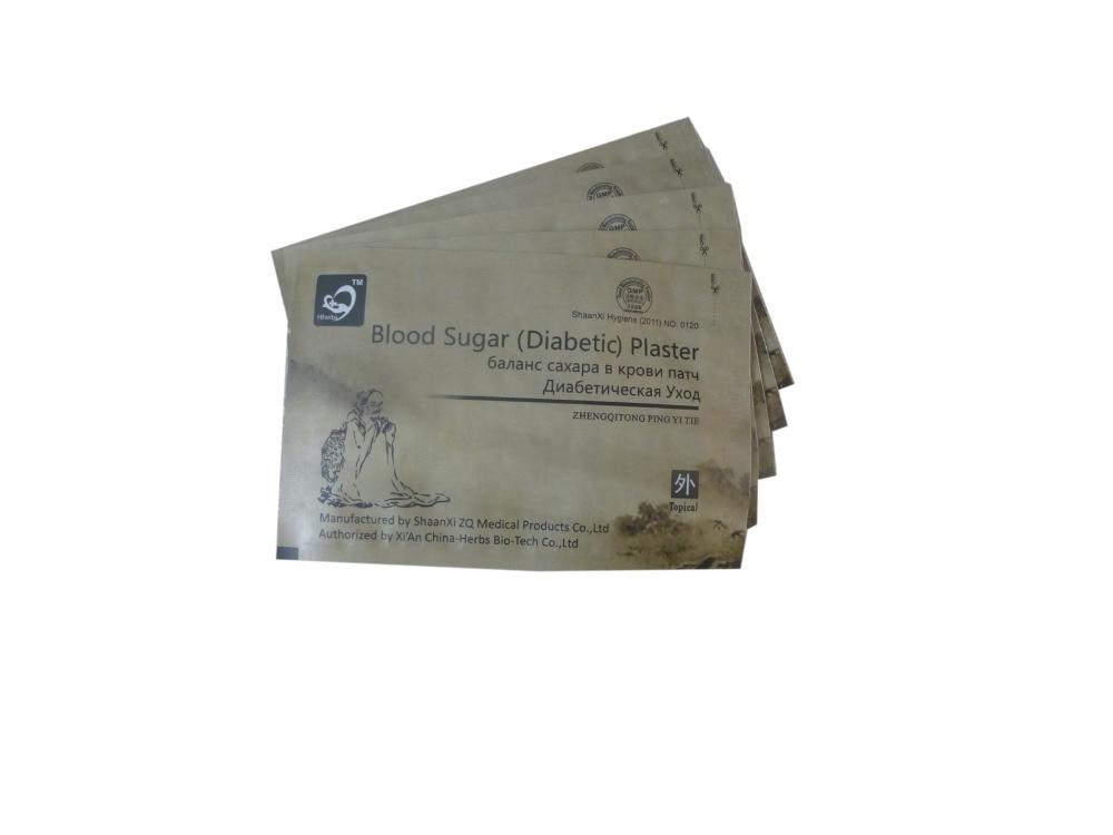 CE 50pcs/Lot diabetes herbal diabetes cure lower blood sugar glucose treatment diabetic patch Diabetic Plaster Russian language