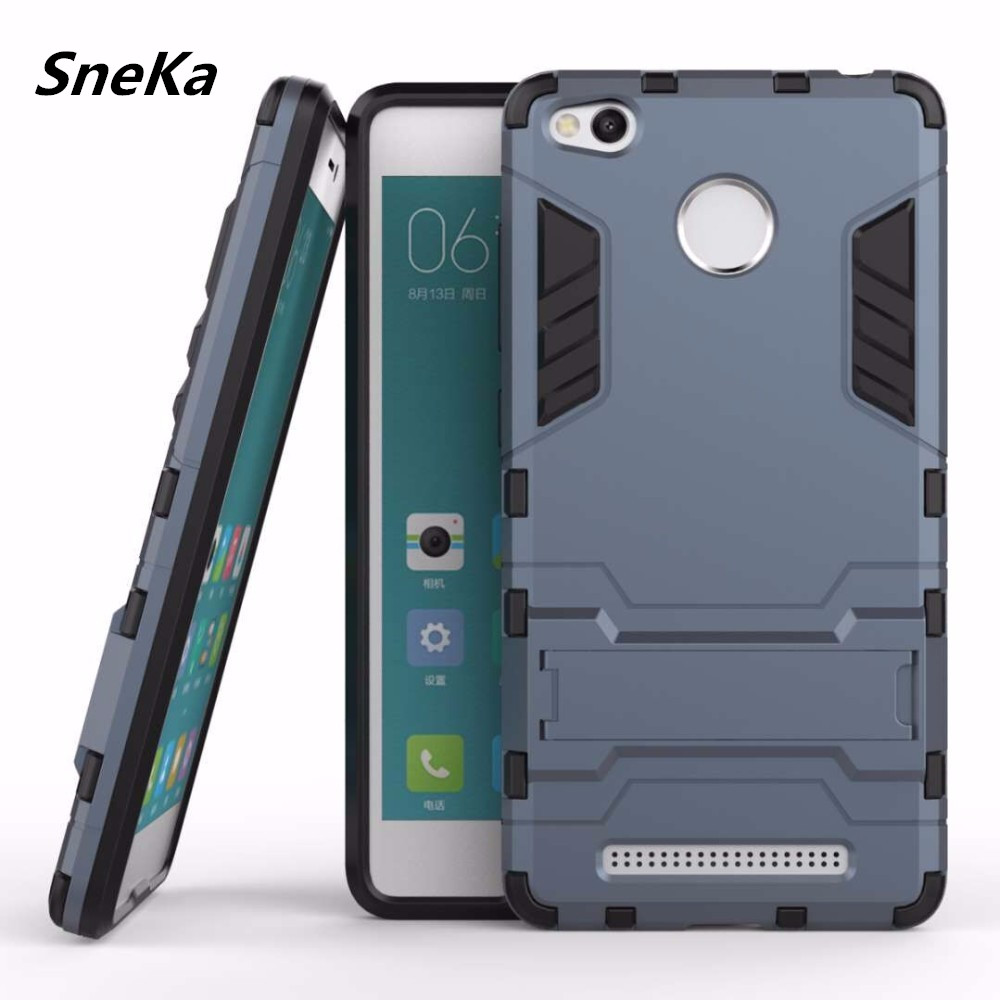 Coque Xiaomi Redmi 3S Pro Case Luxury PC Plastic + Hard Silicone Dual Armor Cover 대 한 Xiaomi Redmi 3 S Pro Prime Case