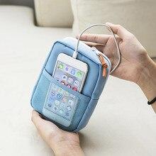 Многофункциональная Мужская цифровая сумка, линия передачи данных, Дополнительный внешний аккумулятор, посылка, портативный дорожный женский чехол, аксессуары, товары