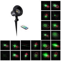 IR Contro Red Green 20 Patterns Latest Laser Light Outdoor Waterproof Laser Garden Party Projector Landscape