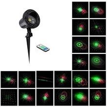De luz láser Proyector de Estrellas 24 Patrones de movimiento Rojo Verde Navidad ducha RFRemote IP65 A Prueba de agua Al Aire Libre Jardín Decoración De Navidad