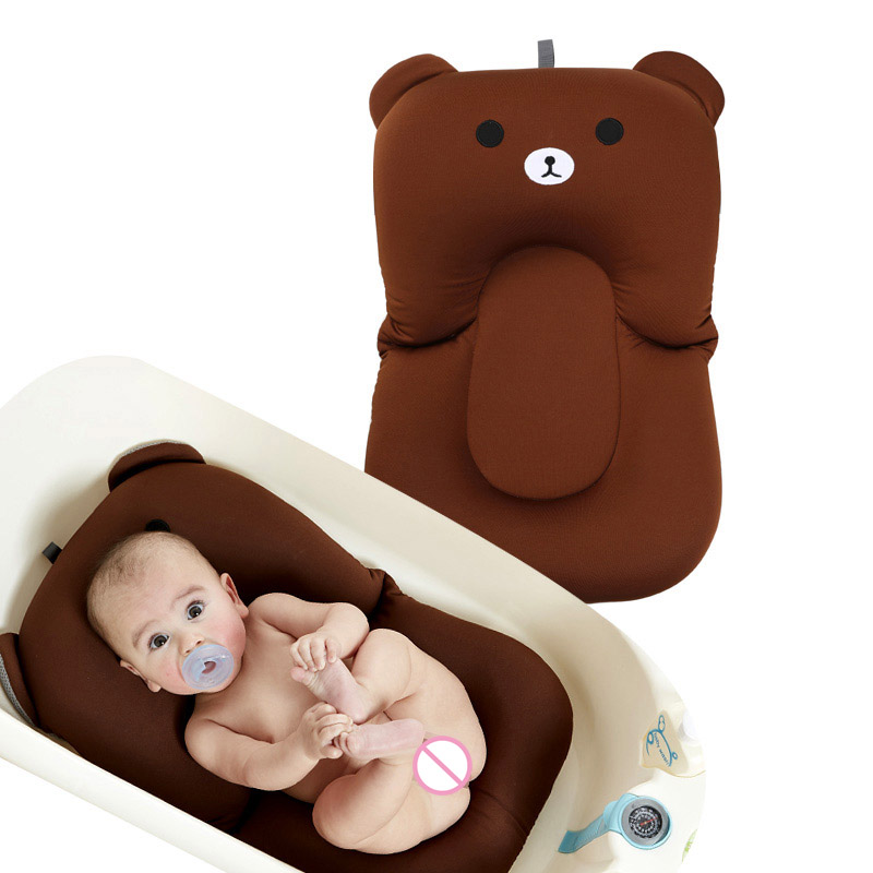 Cartoon Baby Bath Mat Soft Non-slip Bathing Cushion Bathtub Shower Bed for Toddlers Infant S7JN