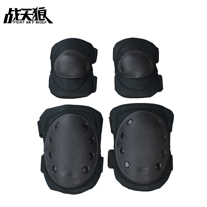Real CS Tactical Knee Pads, Elbow Pads, Mountaineering Field Pulley, Riding Sport Protector Transformers 2018 Free Shipping
