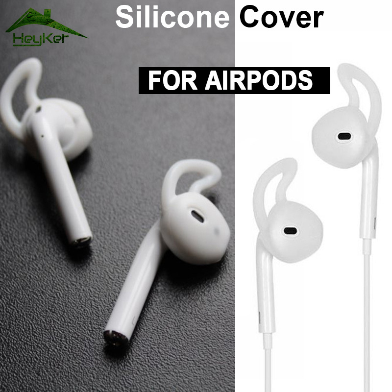 for AirPods 2 Silicone Antislip ear Cover Hook Earphone earbuds for i7s <font><b>tws</b></font> i10 i11 i12 i13 i14 i15 i16 <font><b>i18</b></font> i19 i20 w1 chip 1:1 image