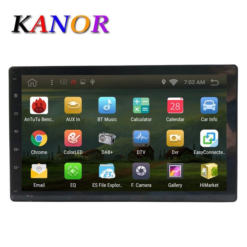 imágenes para Kanor Android 6.0 quad core 2g + 16G sin coches reproductor de dvd gps navegación gps de coche universal 2 din de radio reproductor de vídeo 1024*600 wifi mapa