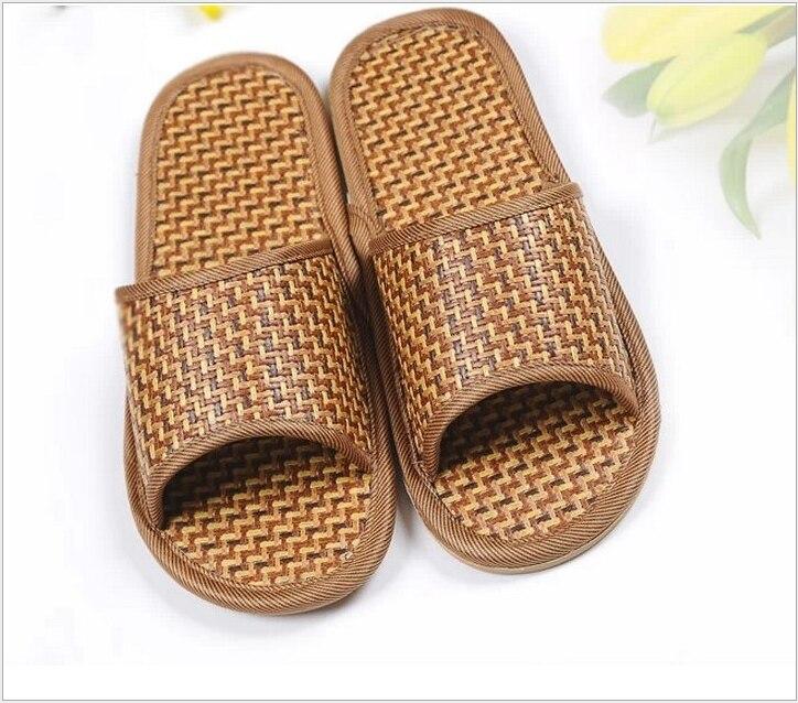 XEK, zapatillas de verano para hombre, zapatillas modernas para el hogar, zapatillas de bambú de mimbre para hombres y amantes, sandalias ST266