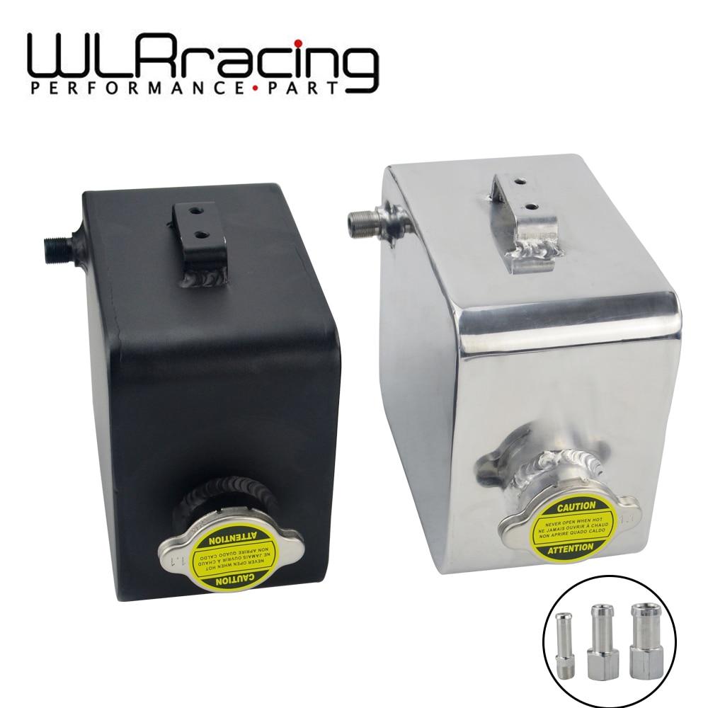 WLR - 2L Litre Polished Alloy Header Expansion Water Tank & Cap WATER HEADER TANK Coolant Overflow Tank Reservoir Kit WLR-TK24