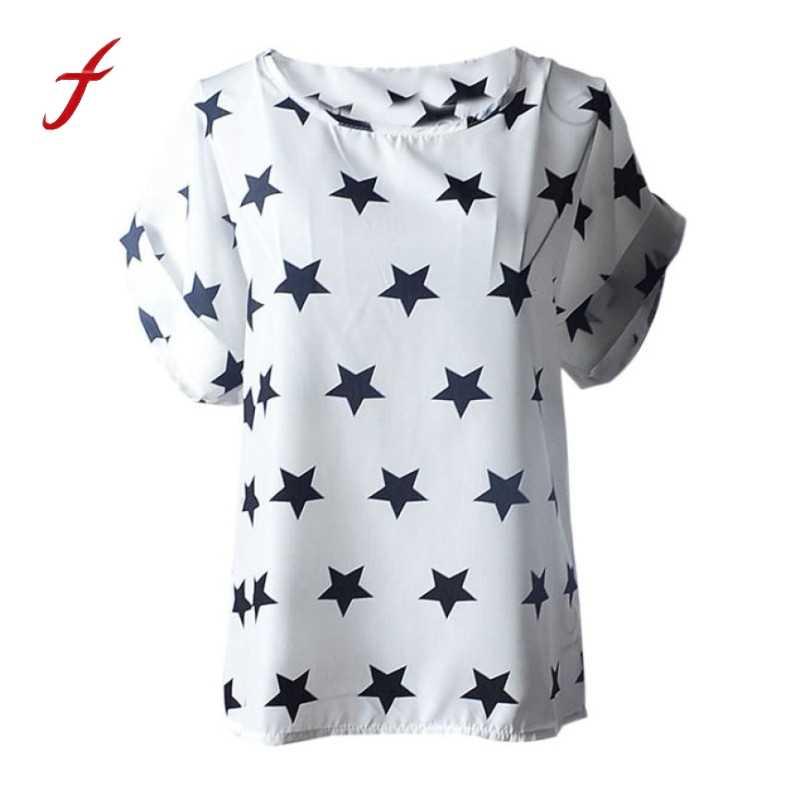 2019 moda luźne góra kobiety lato t koszula marki dorywczo krótkim rękawem tee drukowanie gwiazda boże narodzenie camisas mujer wysokiej jakości