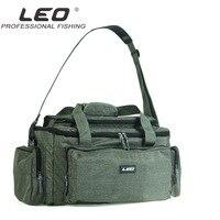 LEO Nylon Carp Fishing Bag Multifunctional Outdoor Fishing Tackle Bag Pack Fishing Reel Lure Storage Shoulder Bag Handbag