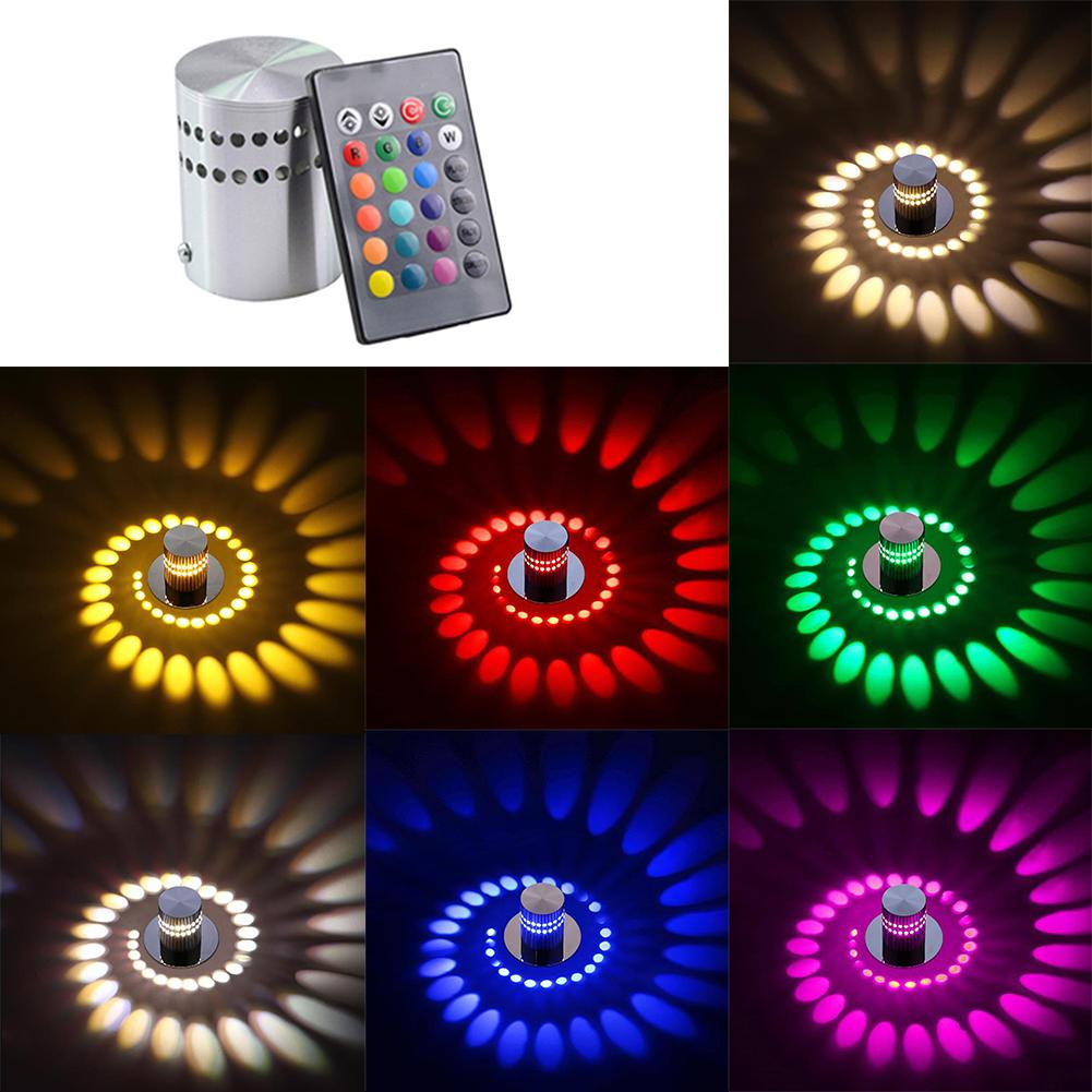 3/1w Modern Led Wall Light Spiral Ceiling Hallway Sconce Lamp Home Bedroom Decor