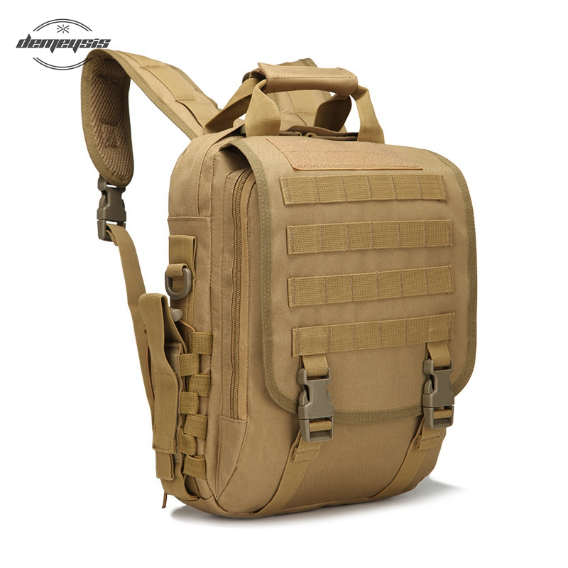 Outdoor Tactical Backpack Men Women Camping Hiking Travel Backpack 14 Inch Military Style Laptop Case Bag sinairsoft 14 inch laptop tactical molle military backpack 800d nylon sports bag camping hiking waterproof men travel backpack