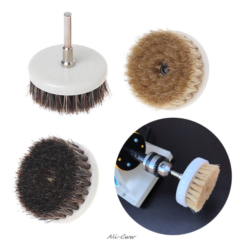 3mm 6mm Stainless Steel Rod And 60mm Drill Powered Scrub Heavy Duty Cleaning Brush With Stiff Bristles Tools
