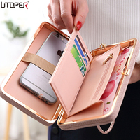UTOPER Luxury Women Wallet Case For Oukitel C8 Case Silicona Pink Bag For Oukitel K8000 Cover
