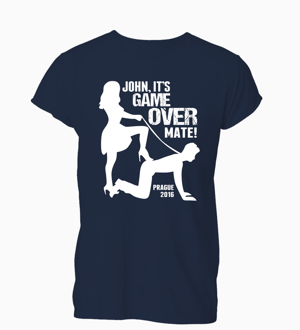 Это Game over индивидуальный заказ мальчишник футболка мужская женская подарок ...