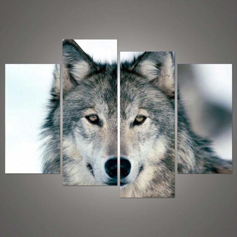 unidades de pared imgenes de arte pintura sobre lienzo negro blanco y gris lobo la