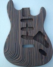 One piece wood zebrawood  guitar body no finish painting good grain