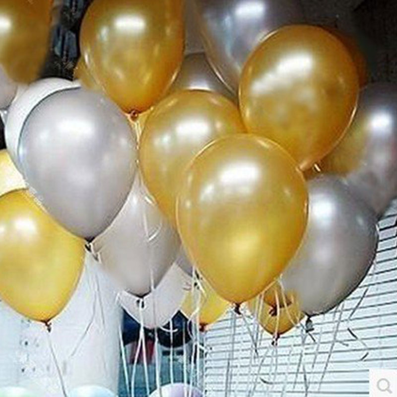 12 inch Pearl Color Gold Silver Black Latex Balloons Wedding Decoration Baby Shower Halloween Birthday Decoration