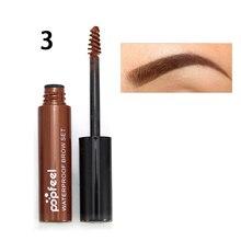 Coffee Black Brown Paint Eyebrows Gel