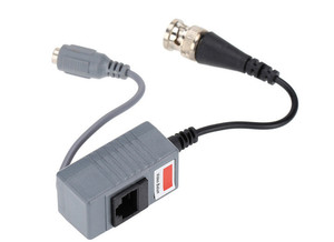 Image 2 - 10pcs CCTV Camera Accessories Audio Video Balun Transceiver BNC UTP RJ45 Video Balun with Audio and Power over CAT5/5E/6 Cable