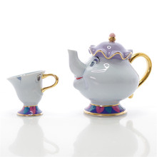 New Cartoon Beauty And The Beast Teapot Mugs Creative Home Decoration Mrs Potts Chip Tea Pot Cup One Set Best Gifts