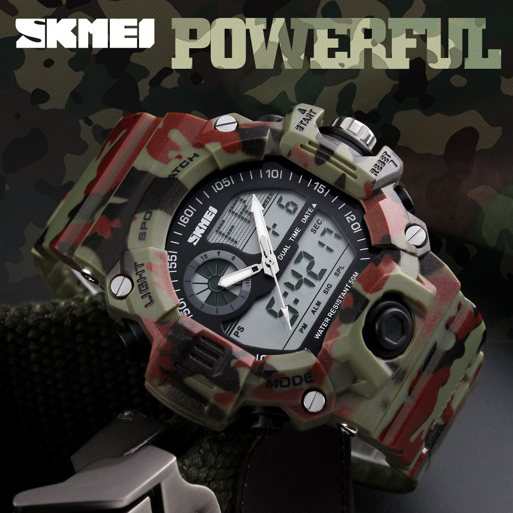Skmei S Shock Men Sports Watches Swim Dive LED Digital Military Watch Fashion Outdoor Wristwatches Waterproof Relogio Masculino skmei fashion outdoor sports watches men electronic digital watch woman waterproof military wristwatches relogio masculino 1228