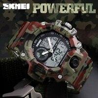 SKMEI 1029 Men Sports Watches Waterproof Fashion Casual Quartz Watch Digital Man Analog Military Multifunctional Wristwatches