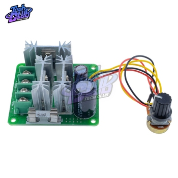 6V-90V 15A PLC PWM DC Motor Speed Controller Stepless Speed Regulation Pulse Width PWM DC 12V 24V 36V 48V 1000W image