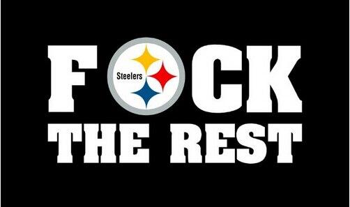 90X150 CM Pittsburgh Steelers f ck o resto printing100D digitais bandeira  banner personalizado bandeira frete grátis 8ed0c2615d666