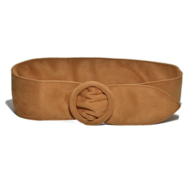 Long Velvet   Belt   Suede Dress   Belts   Female circle Knot Black Waistband Red brown Decorate Coat Sweater   Belt   Waist Seal Tide