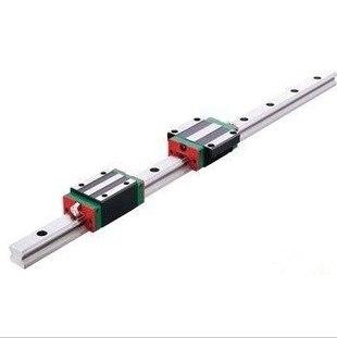 CNC Guide Rails 5 pièces HIWIN HGR20 Rail Linéaire 1600mm + 10 pièces HGW20CC transport