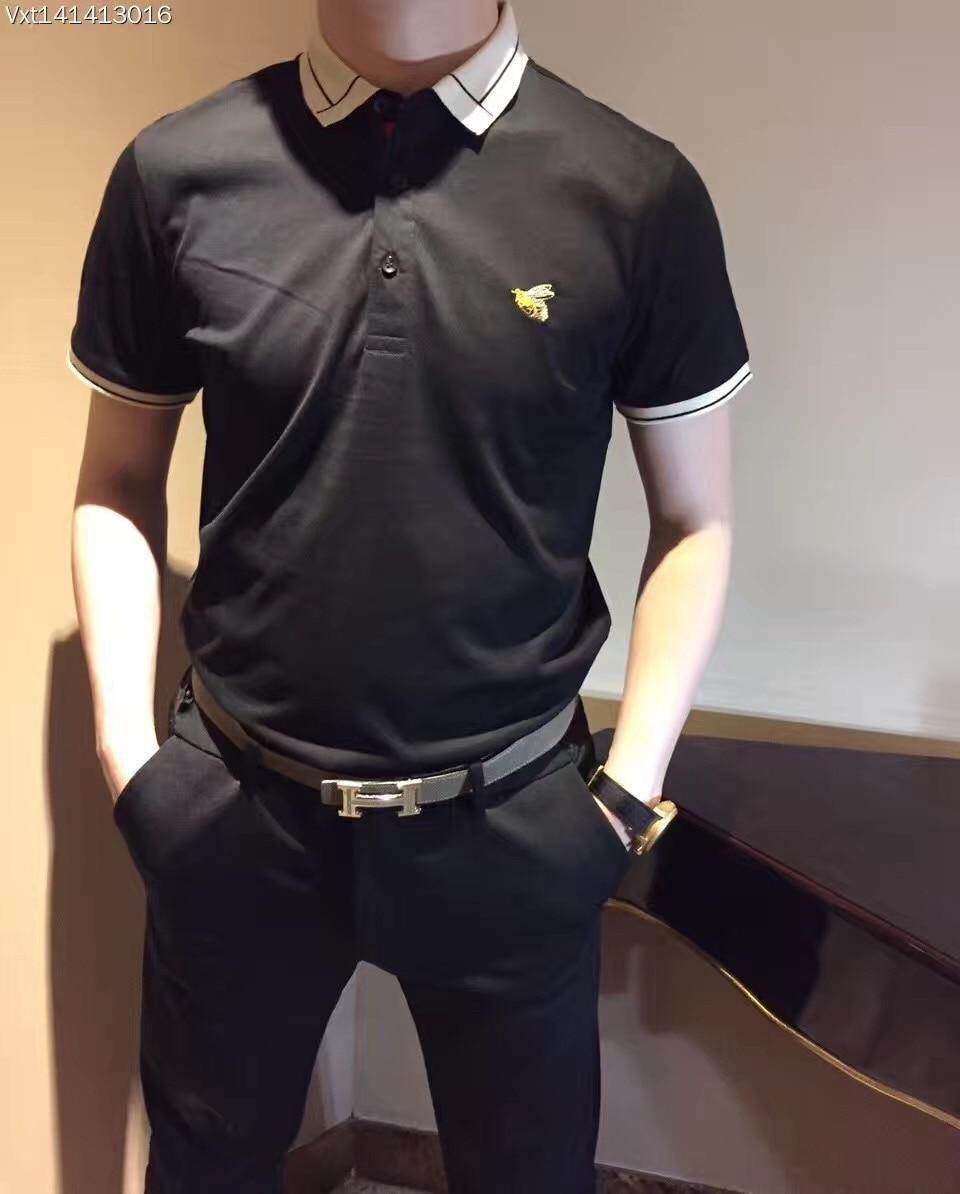 2015 new real camisa solid polo shirt mens fashion cool design short - B0358 Fashion Men S Tops Tees 2017 Summer Hot Sale Fashion Design Short Solid Party Style Polo Shirts Men S Clothing