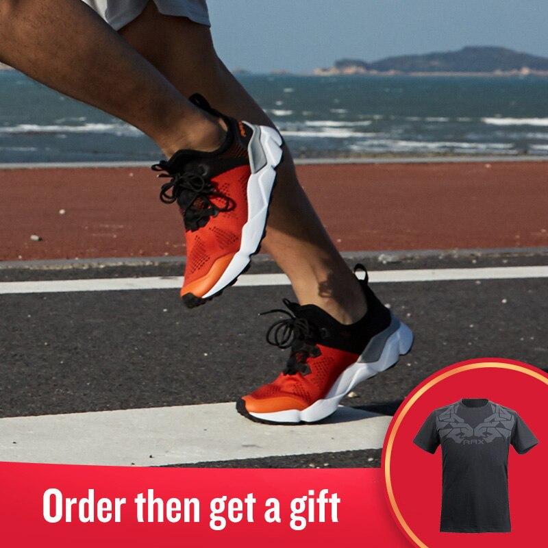 Rax Для мужчин уличные кроссовки Zapatos из дышащего сетчатого материала Легкая спортивная виды спорта кроссовки Для женщин туризма 5C458