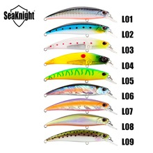 SeaKnight SK040 Minnow Sinking Lure 9.5g 7cm 3in 1PC Mini Minnow Plastic Hard Fishing Lure 3D Fish Eyes VMC Hooks Fishing Baits