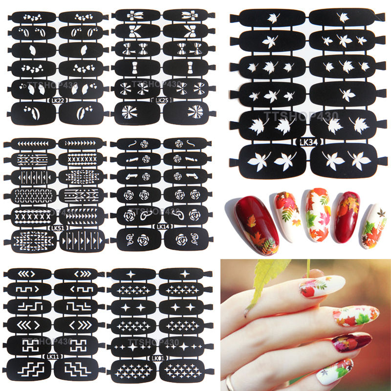 buy new easy use nail art stamping template stencils stamp guide reusable tips. Black Bedroom Furniture Sets. Home Design Ideas