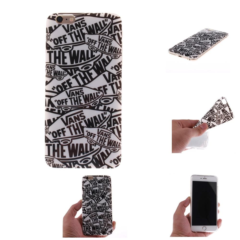 Vans off the wall For iphone 4 4s 5 5s SE 5C 6 6s 6s Plus 6Plus 7 7 Plus Case Soft Silicon TPU Back Cover Phone Fundas Coque