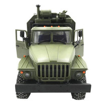 Six wheel Drive Remote Climbing Car RTR Version Car Model Ural Command Communication Vehicle 1:16 6WD Military Truck Model