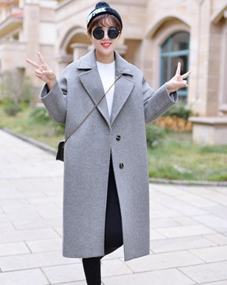 Oversized Wool Coat With Pad Quilting Warm Winter coats Grey Brown ...