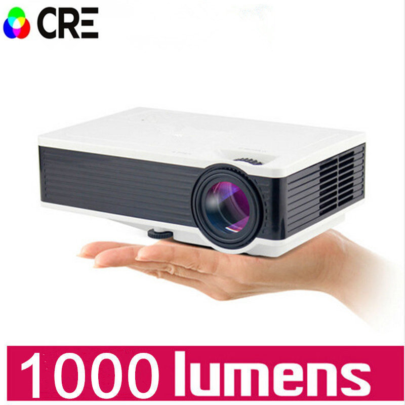 1000lumens 1080P HD Home Theater LCD PC The HDMI USB pICO Video Game LED Mini Projector  HD Proyector Beamer tv home theater led projector support full hd 1080p video media player hdmi lcd beamer x7 mini projector 1000 lumens