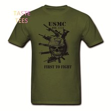 Mode USMC T-shirt UNS Marines Semper Fidelis Teufel Hund Semper Fi Military Veteran Baumwolle O Hals Kurzarm Shirts Marke Tees