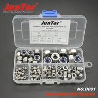 98pcs DIN985 A2 Stainless Steel Nylon Lock Nut Metric Assortment Kit NO D001