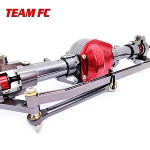Image 3 - 1 ensemble 1/10 Rc voiture complète alliage CNC essieu avant et arrière en métal avec bras CNC usiné pour 1:10 Rc chenille axiale SCX10 RC4WD S242