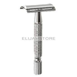 BAILI BT131 BAILI бритва с длинной ручкой и двойным лезвием, безопасная бритва с бабочкой и открытой головкой для парикмахера, мужские чернила